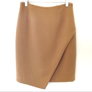 H&M | Pencil skirt asymmetric camel 6